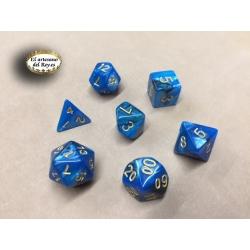 Dados azul Celeste