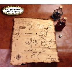 Mapa Vinlandia de Walhalla