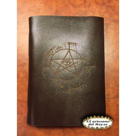 Libro en blanco Arcanum marron