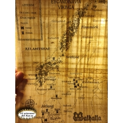 Mapa Walhalla en papiro original